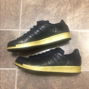 Adidas Superstar Shell Toe Black and Gold